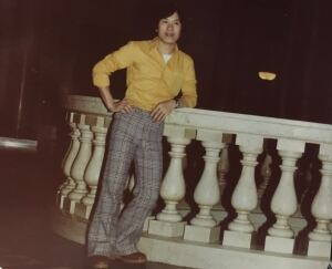 Nguyen visiting the Manitoba Legislative Building in the 1980's
