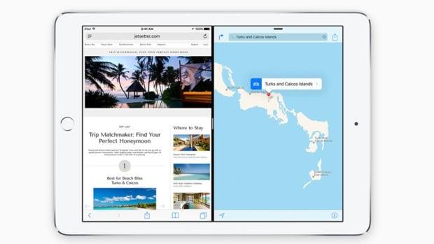 Split view for iPad