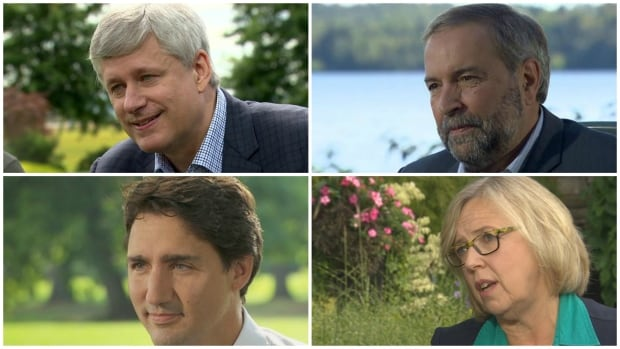 Stephen Harper, Tom Mulcair, Justin Trudeau and Elizabeth May sat with Peter Mansbridge for exclusive interviews ahead of the Oct. 19 election.
