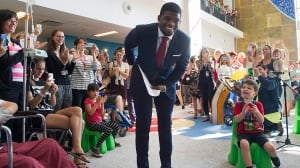 P.K. Subban returns to Montreal Children's Hospital following trade