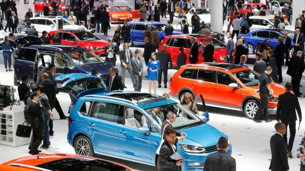 Various VW cars are presented on the second press day of the Frankfurt Auto Show in Frankfurt, Germany, Sept. 16, 2015. The U.S. EPA on Friday ordered Volkswagen to fix nearly 500,000 VW and Audi diesel cars that the agency said are intentionally violating clean air laws by using software that evades EPA emissions standards.