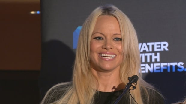 Pamela Anderson in Vancouver last year. The Canadian Press has obtained a letter the Baywatch actress sent to Prime Minister Justin Trudeau, asking him to end federal subsidies for the seal hunt.
