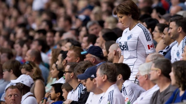 British Columbia Premier Christy Clark has been a season ticket holder for Vancouver Whitecaps games for many years.