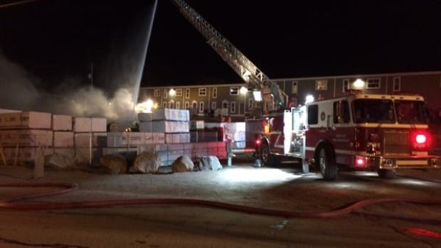Iqaluit fire crews arrived on the scene at a fire at a construction site around 10 p.m. Saturday night.