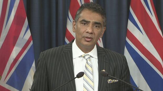 Amrik Virk, B.C. minister of technology, innovation and citizens' services, briefed the media Tuesday morning.  He revealed that the B.C. government is unable to locate an unencrypted backup hard drive that contains about 3.4 million records.