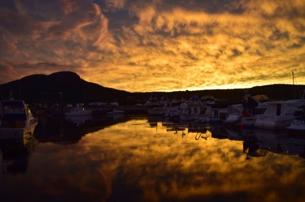 Sunset early Autumn evening Holyrood by Jim Hart