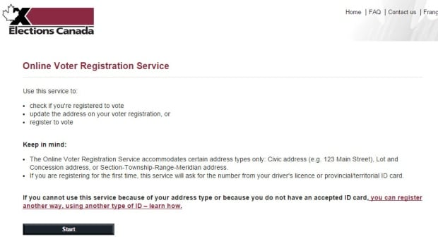 The Elections Canada website can't accommodate all addresses.