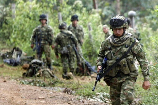 Colombia soldiers