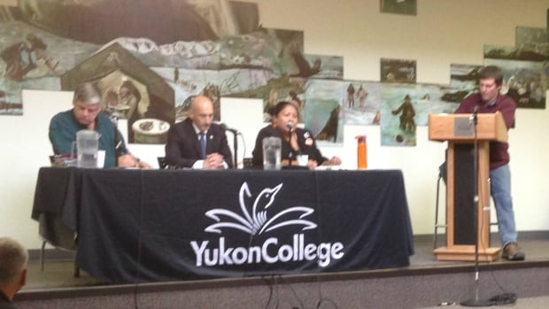 Liberal Larry Bagnell, Conservative Ryan Leef and the NDP's Melissa Atkinson attended the forum hosted by the Yukon College Students Union. Green candidate Frank De Jong was to join by live-stream from Dawson City, but could not as Yukon's Internet service was down.