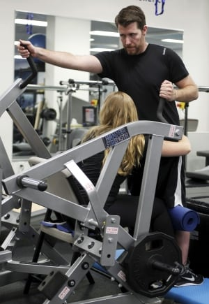 Adam Fritz, learning to walk again