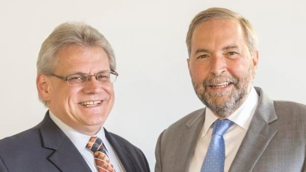 Stefan Jonasson and Tom Mulcair.