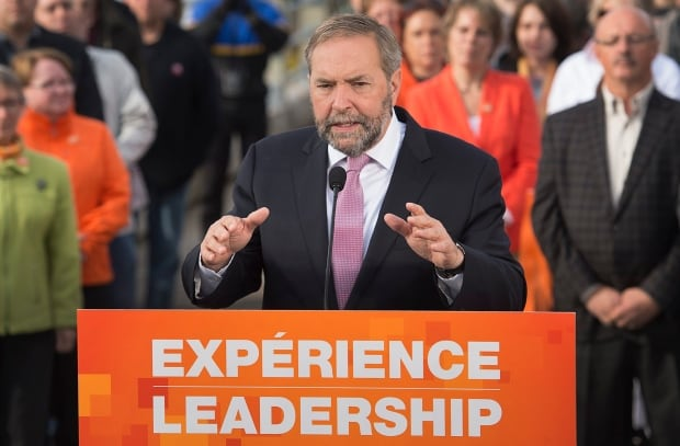 Tom Mulcair NDP leader federal election 2015
