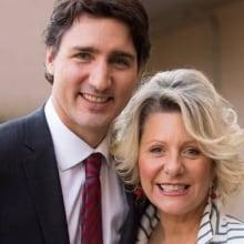 Maria Manna and Justin Trudeau
