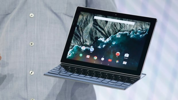 Andrew Bowers, director of product management at Google, speaks about the new Google Pixel C tablet, aimed at consumers and workers who want a device that can accommodate a lot of typing.