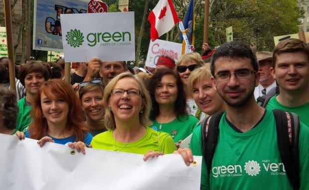 Young Greens march