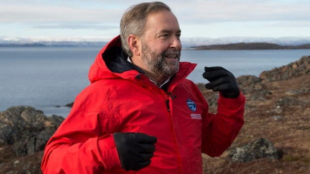 NDP Leader Tom Mulcair spent two days in Iqaluit, where he reiterated his commitment to data-driven decision making.