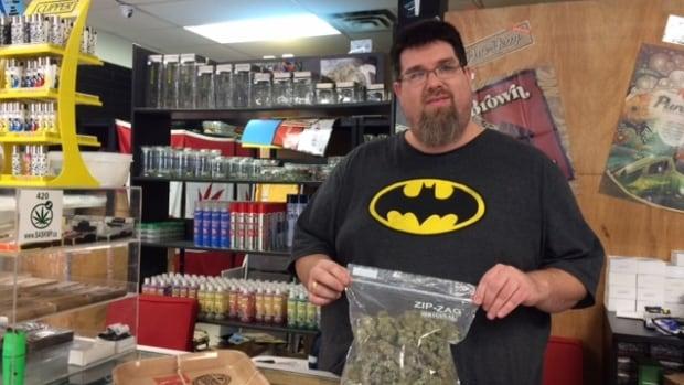 Jeffrey Lundstrom, owner of the Skunk Funk head shop in Saskatoon, advocates decriminalizing marijuana use.