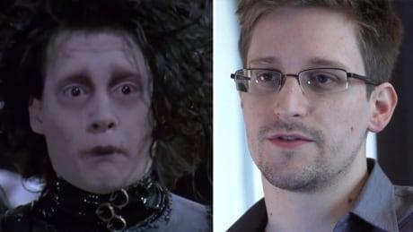 Supposed Snowden supporter spends entire TV segment discussing Edward Scissorhands