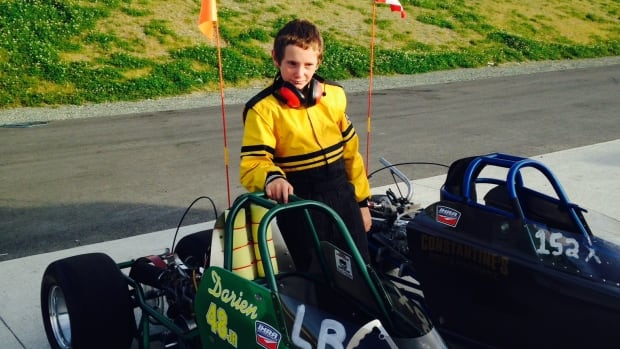 10-year-old Darien Legge, who's set to race internationally at the Summit Super Series Championships.
