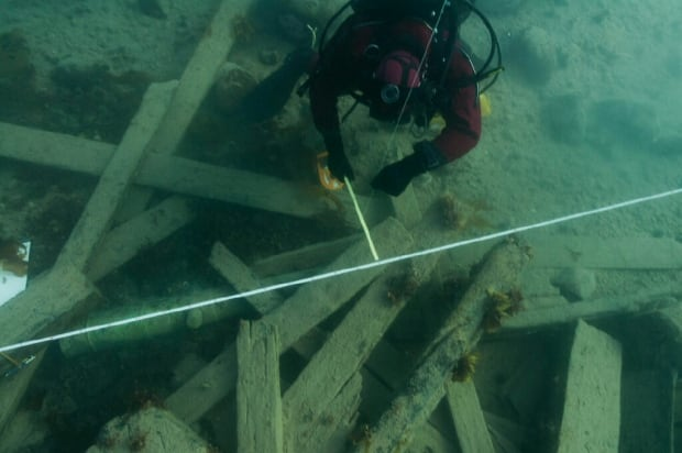 Surveying debris field of HMS Erebus