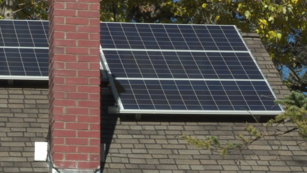 Solar panels are becoming a common site in Banff.