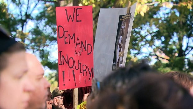 A hundred or so people attended a march and vigil in Montreal to remember missing and murdered aboriginal women.
