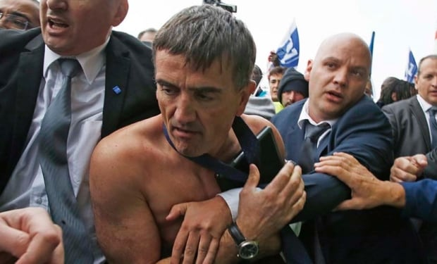 Air France protests - strip