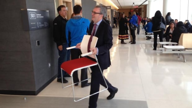 Ontario's provincial advocate for children, Irwin Elman , one of the formally recognized parties at the inquest was among those scouring the court house on the first day for more chairs to pack into the tiny courtroom for family members.