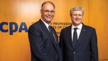 Stephen Harper with Kevin Dancey of CPA Canada