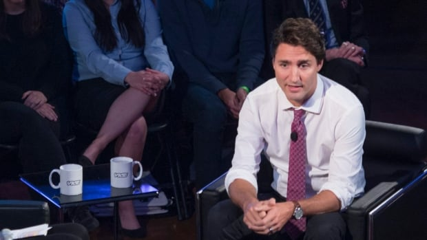 Liberal Leader Justin Trudeau participates in a Vice town hall Monday in Toronto.