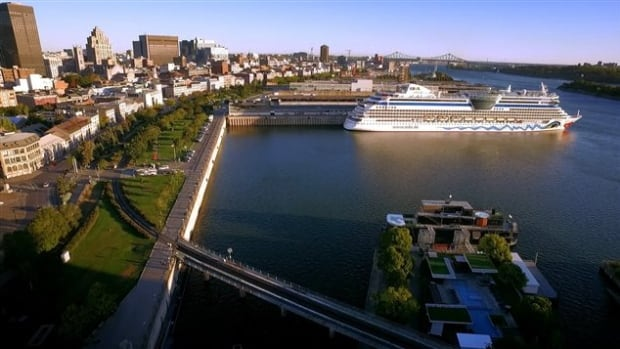 One of the sewage spill sites is located at the west end of Montreal's Old Port, where a pier has been transformed into a park where Bota Bota, an onboard spa, is moored.