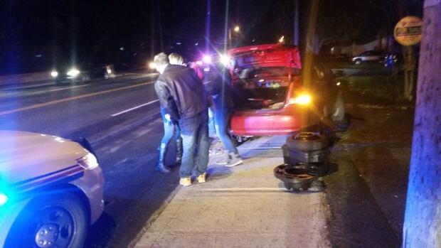 Crash on Topsail Road resurfacing