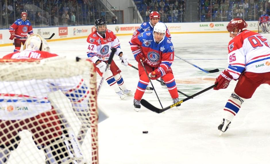Super Putin Russian President scores hockey game Oct 7 2015