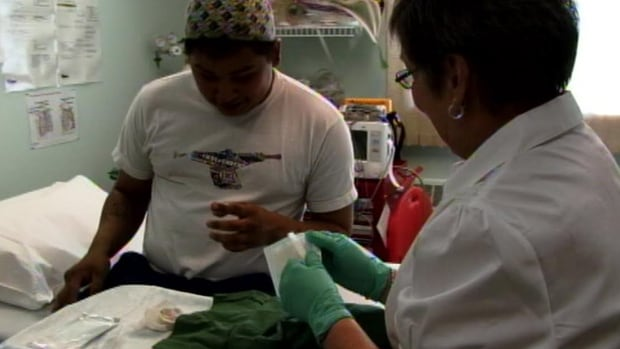 A community nurse at work in Carcross.