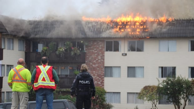 An apartment fire in Port Moody, B.C. broke out shortly after noon on Wednesday.