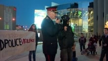 Clive weighill speaks at rally
