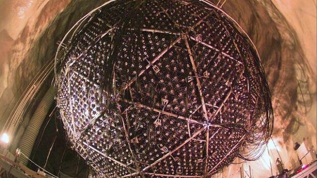 The neutrino detector at Sudbury's Neutrino Observatory (SNOLab).