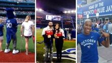 Canadian Olympians cheer on the Blue Jays