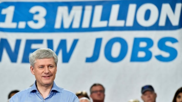 Conservative Leader Stephen Harper reiterated his low tax, balanced budget plan for Canada during a campaign event to unveil his party's full platform in B.C. today.