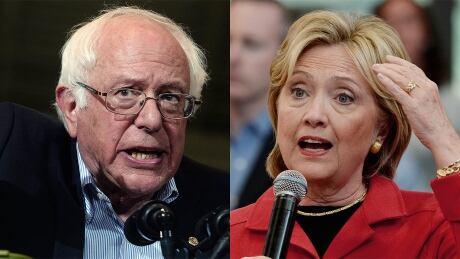 Bernie Sanders vs Hillary Clinton Oct 2015 composite