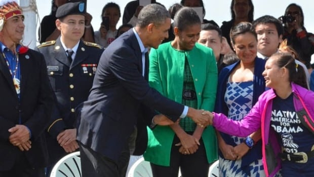 Cara Currie Hall's Daughter meets Obama