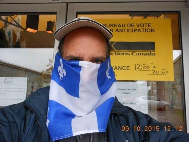 advance polling quebec flag