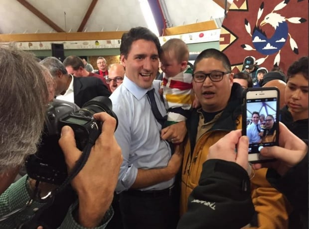 Justin Trudeau in Yellowknife
