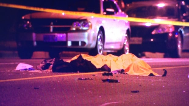 A pedestrian was struck and killed in Etobicoke in early October. This year, 38 pedestrians died on city streets, Toronto police said.