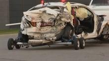 Car involved in 400 crash on Sunday
