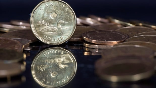 The Canadian dollar rose on Thursday because of weakness in the U.S. currency.