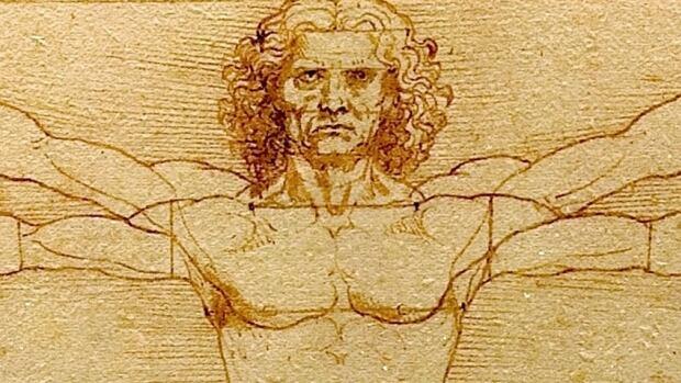 "Detail from Leonardo da Vinci's ""Vitruvian Man'"
