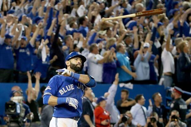 Toronto Blue Jays Jose Bautista bat flip