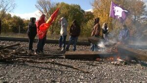 Kahnawake Mohawks protest