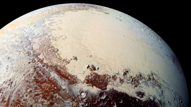 A flyby of Pluto by the New Horizons probe in 2015 revealed that the dwarf planet has vast plains of frozen nitrogen and towering ice mountains as rugged as the Rockies, writes Bob McDonald.